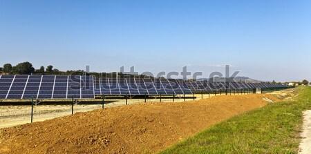 Franciaország fotovoltaikus elektromos erőmű modern keleti nap Stock fotó © ribeiroantonio