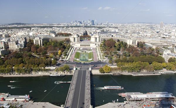 Париж мнение Эйфелева башня глядя музее центра Сток-фото © ribeiroantonio