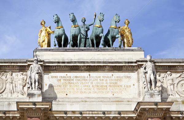 Arc de Triomphe du Carrousel Stock photo © ribeiroantonio