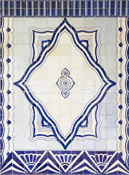 装飾的な タイル 伝統的な 青 入り口 ストックフォト © ribeiroantonio