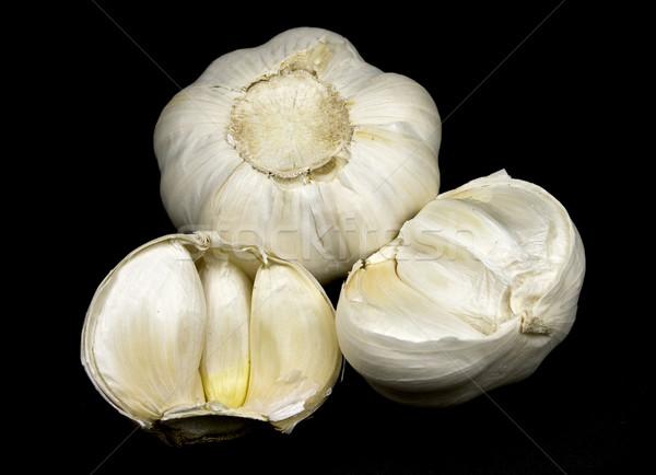 Knoflook kruidnagel geheel een tonen Stockfoto © ribeiroantonio