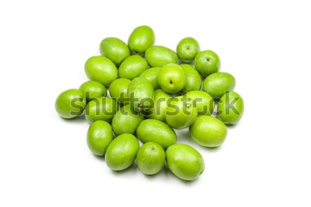 Vers groene olijven klaar voedsel vruchten Stockfoto © ribeiroantonio