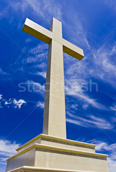 クロス メモリ 空 雲 神 宗教 ストックフォト © ribeiroantonio