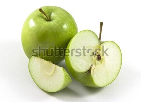 Nagyi alma finom zöld almák egész Stock fotó © ribeiroantonio