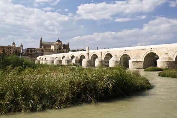 Romeinse brug vroeg rivier stad Stockfoto © ribeiroantonio