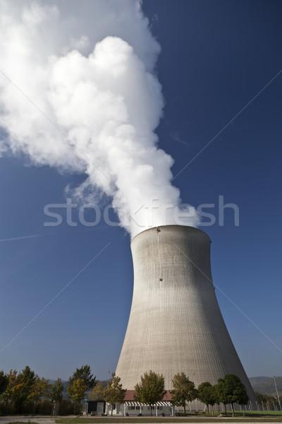 Németország elektromos erőmű hűtés torony víz pára Stock fotó © ribeiroantonio