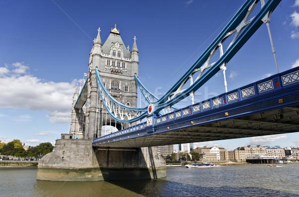 タワーブリッジ ロンドン イギリス 川 テムズ川 建物 ストックフォト © ribeiroantonio