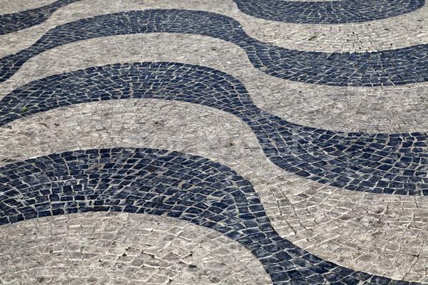 Kaldırım geleneksel kare Lizbon Portekiz Stok fotoğraf © ribeiroantonio
