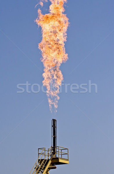 Pollution - Flare burning natural gas Stock photo © ribeiroantonio
