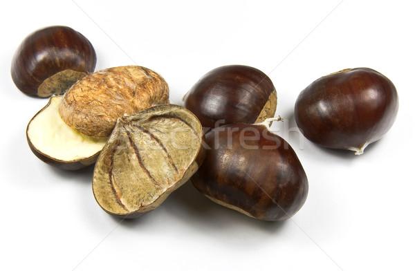 Chestnuts (castanea sativa) Stock photo © ribeiroantonio
