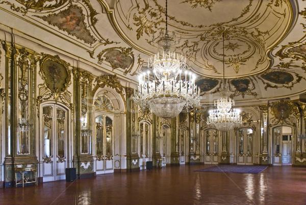 ホール 宮殿 リスボン ポルトガル 旅行 ランプ ストックフォト © ribeiroantonio