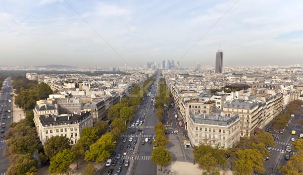 La boog triomf Parijs Frankrijk weg Stockfoto © ribeiroantonio