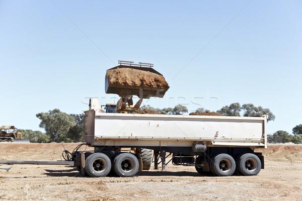トラック 砂利 修復 道路 ストックフォト © ribeiroantonio