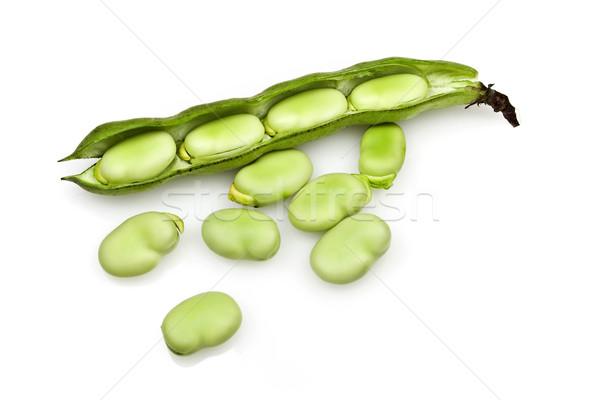 Fresh Broad Beans Stock photo © ribeiroantonio