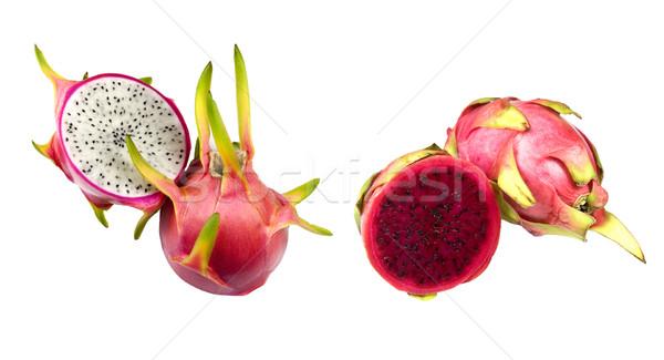 Witte Rood draak vruchten twee Stockfoto © ribeiroantonio