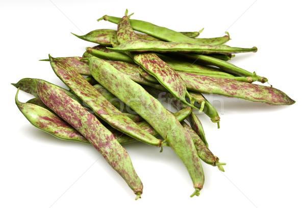 新鮮な 豆 オーガニック 孤立した 白 緑 ストックフォト © ribeiroantonio
