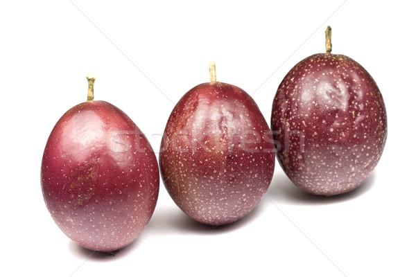 オーガニック 情熱 フルーツ 全体 白 サラダ ストックフォト © ribeiroantonio