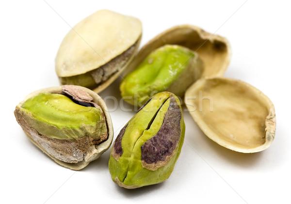 Gezouten noten groene witte Stockfoto © ribeiroantonio