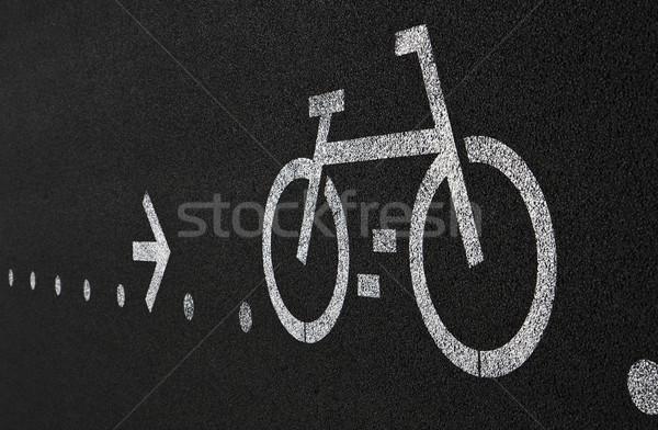 Bicikli sáv folyó Lisszabon Stock fotó © ribeiroantonio