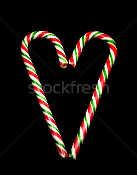 キャンディ スティック 愛 冬 赤 ストックフォト © ribeiroantonio
