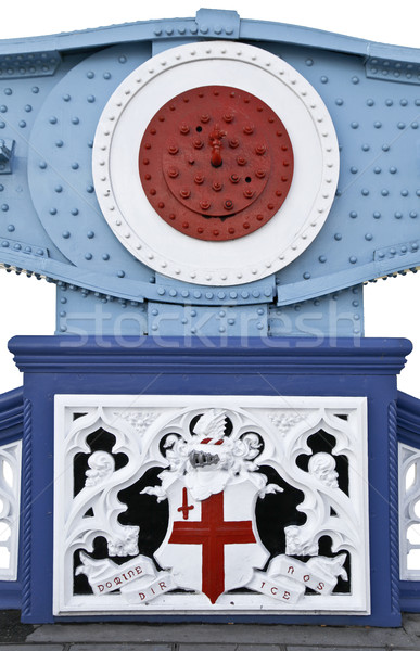 Tower Bridge decoratief detail Londen gebouw Blauw Stockfoto © ribeiroantonio
