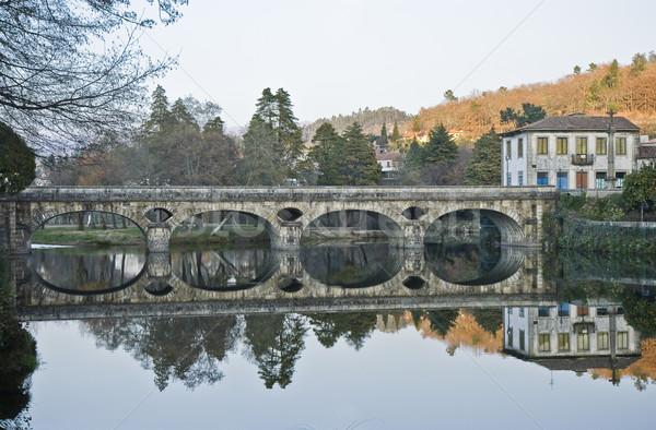 古い 橋 青 旅行 スカイライン 反射 ストックフォト © ribeiroantonio