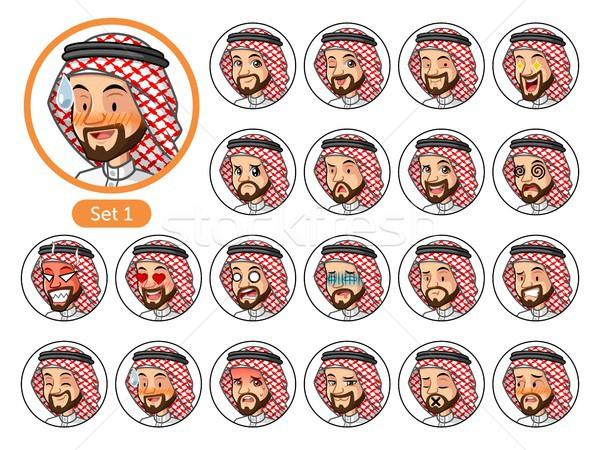 Pierwszy zestaw arabia Emiraty człowiek Zdjęcia stock © ridjam