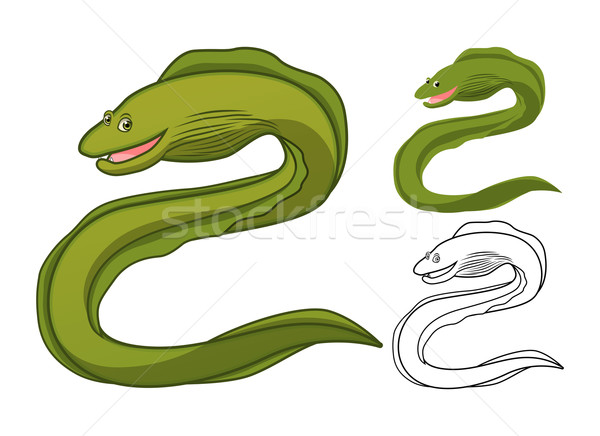 Moray Eel Cartoon Character Stock photo © ridjam