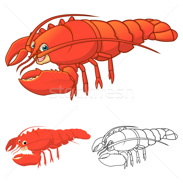 Lobster Cartoon Character Stock photo © ridjam