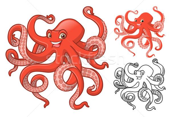 Octopus Cartoon Character Stock photo © ridjam