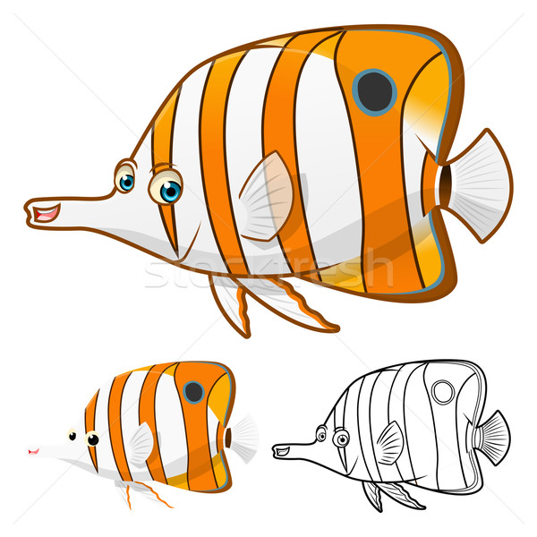 Copper Band Butterfly Fish Cartoon Character Stock photo © ridjam
