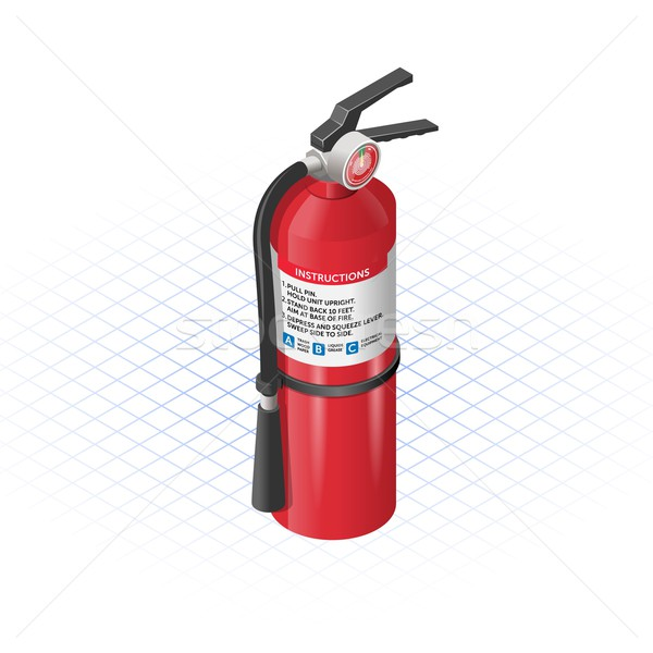 Isometric Extinguisher Stock photo © ridjam