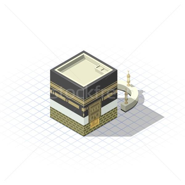 Isometrica sacro moschea città Mecca Foto d'archivio © ridjam