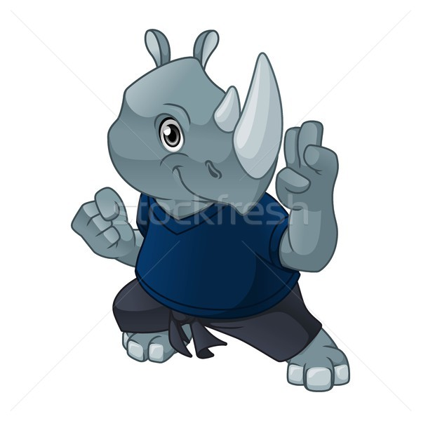 Rhinoceros with Self Defense Pose Stock photo © ridjam