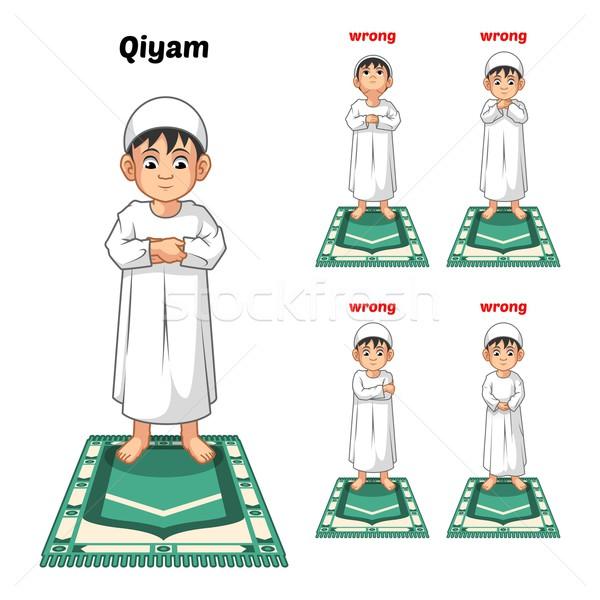 Moslim gebed begeleiden permanente beide handen Stockfoto © ridjam