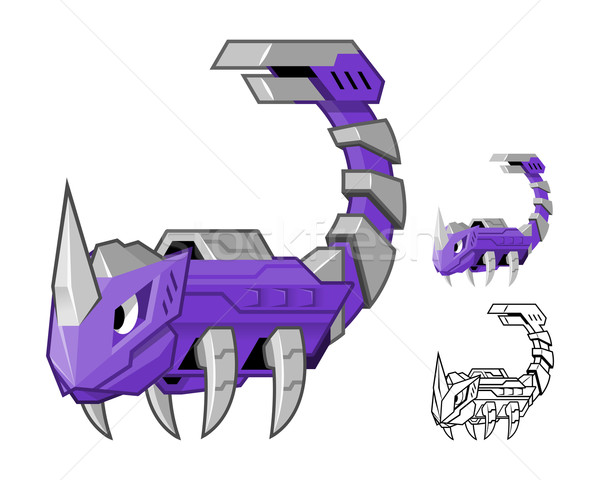Robot Scorpion Cartoon Character Stock photo © ridjam