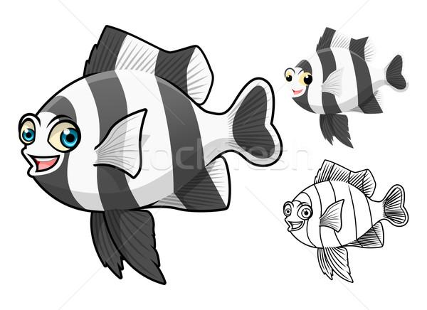 Quatro tira peixe alto qualidade Foto stock © ridjam