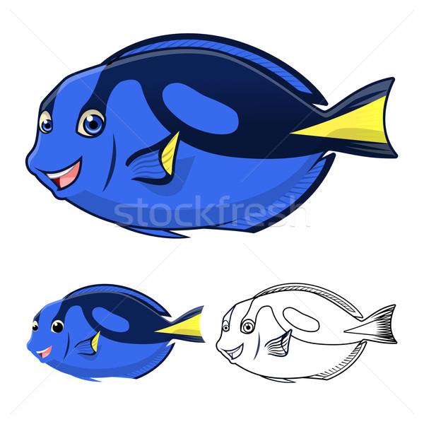 Regal Blue Tang Cartoon Character Stock photo © ridjam
