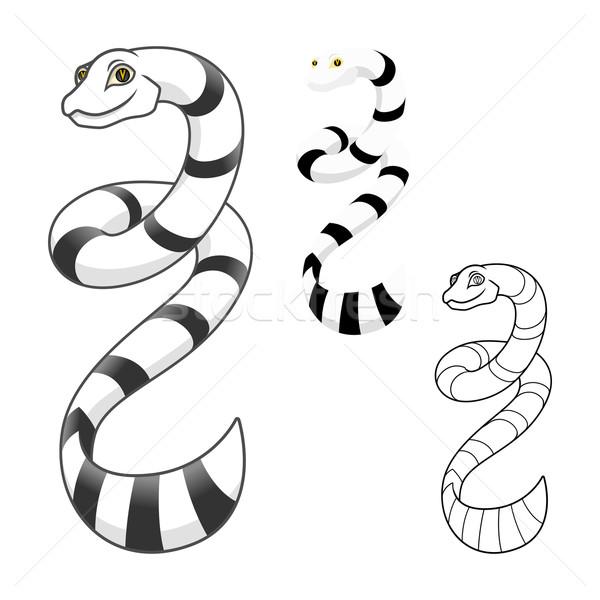 Sea Snake Cartoon Character Stock photo © ridjam