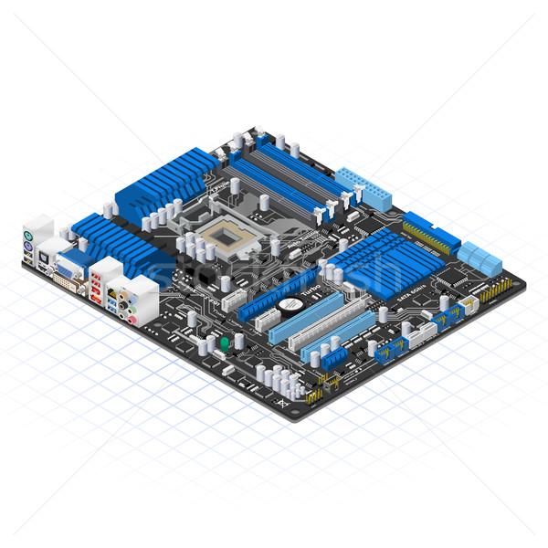 Isometric Motherboard Stock photo © ridjam