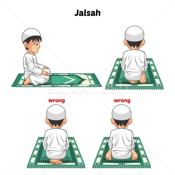 мусульманских молитвы направлять сидят два положение Сток-фото © ridjam