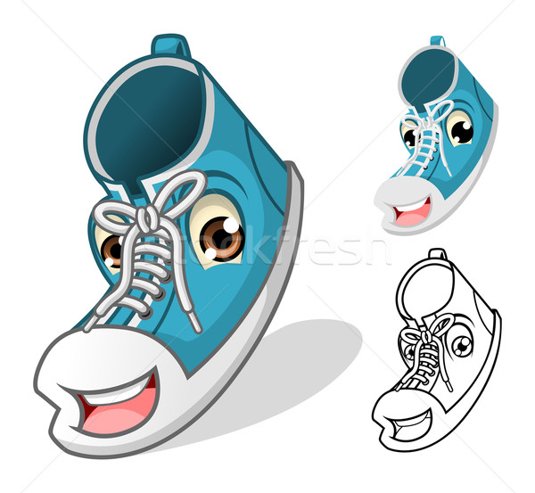 Shoes Mascot Cartoon Character Stock photo © ridjam