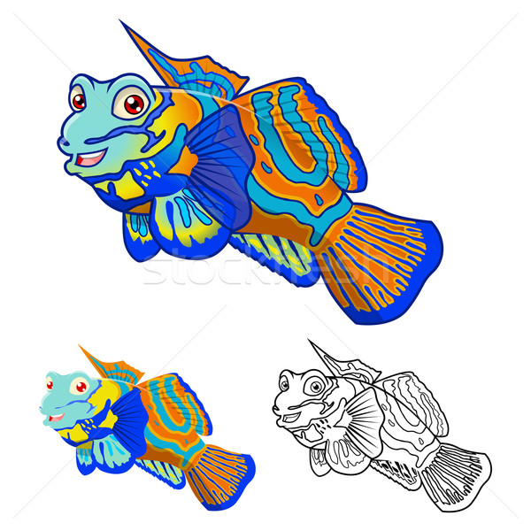 Mandarin Fish Cartoon Character Stock photo © ridjam
