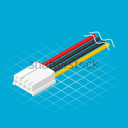 Isometric Four Pin Floppy Connector Stock photo © ridjam