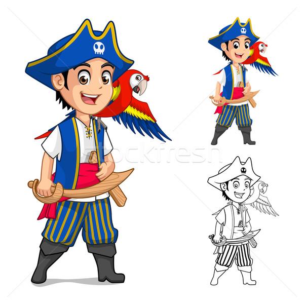 Kid Pirate Cartoon Character Stock photo © ridjam