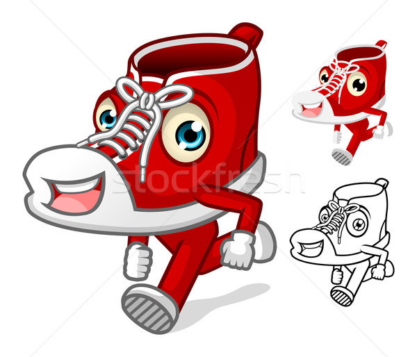 Shoes Mascot with Extremities Cartoon Character Stock photo © ridjam