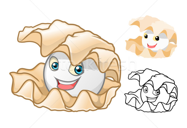 Pearl Shell Cartoon Character Stock photo © ridjam