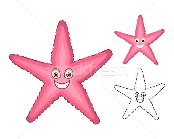 Starfish alto qualidade projeto linha Foto stock © ridjam