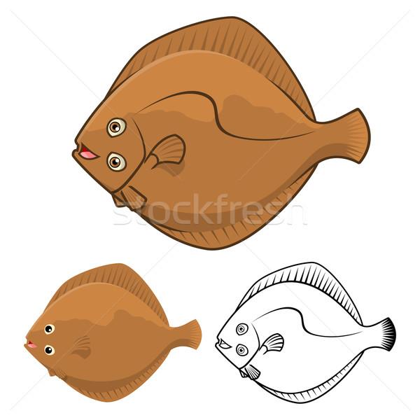 Flatfish Cartoon Character  Stock photo © ridjam
