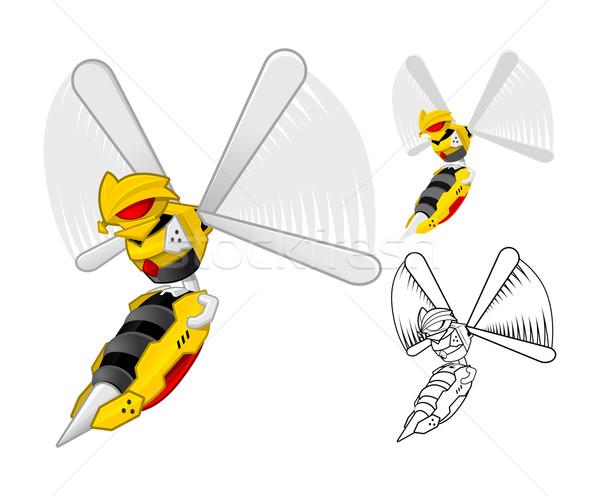 Robot Wasp Cartoon Character Stock photo © ridjam